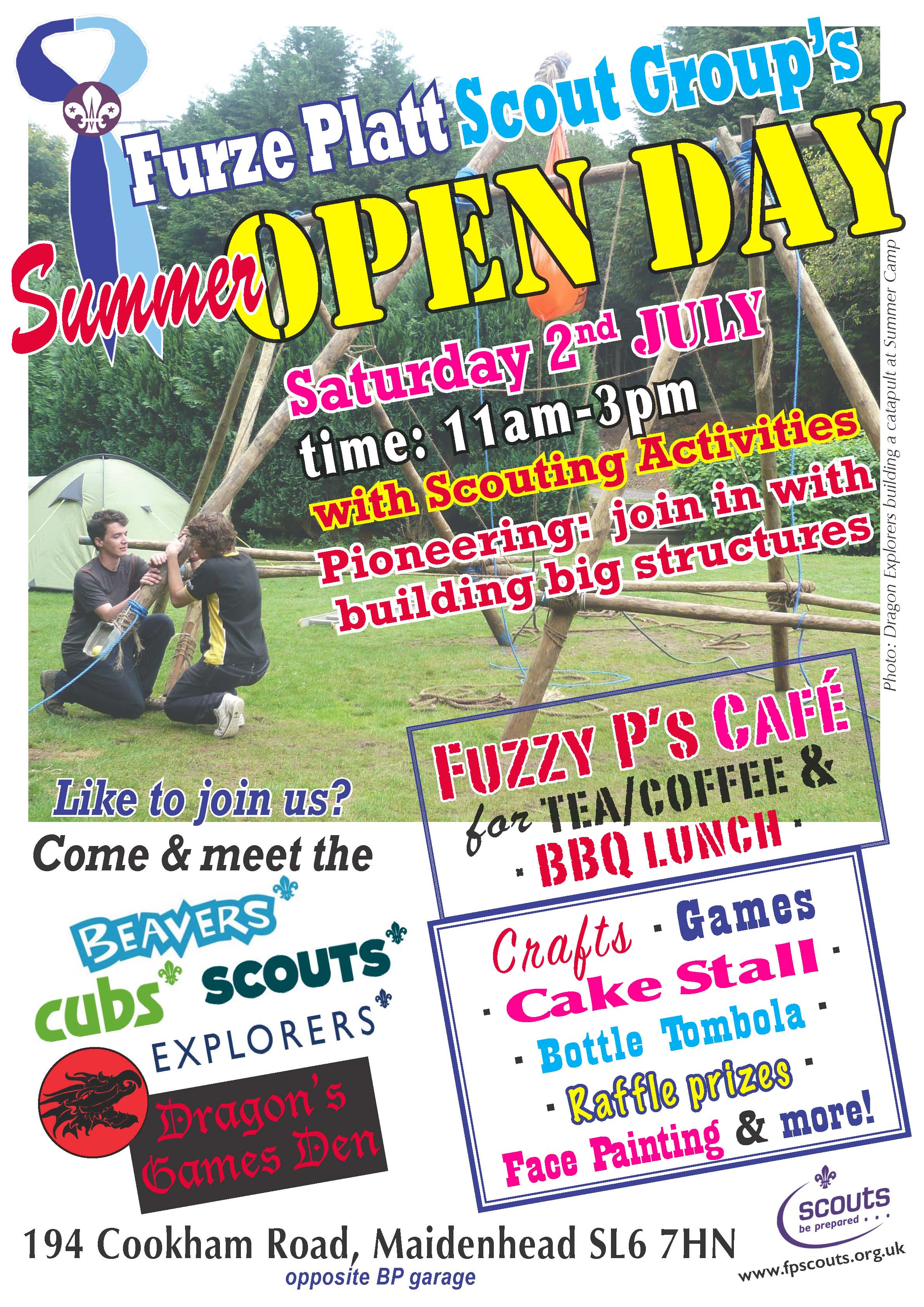 This year's open day takes place on Saturday July 2nd between 11 and 1 at our Cookham Road HQ.