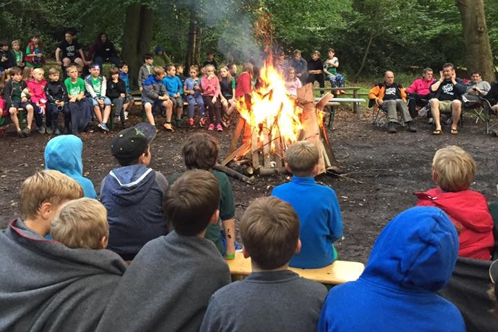 Around the campfire at cub camp